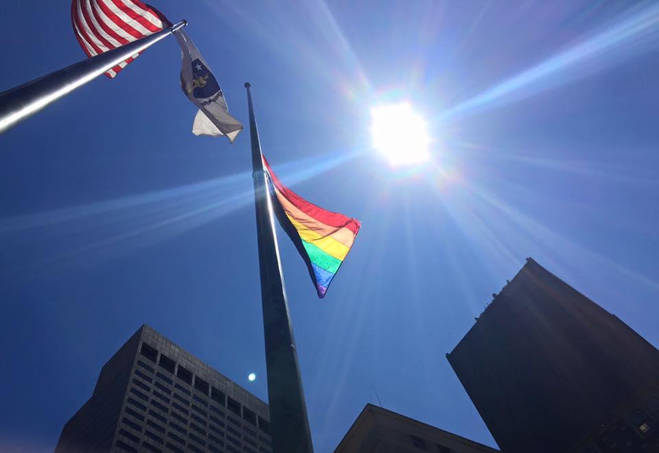 City Hall Flag Raising Marks Start of Boston Pride Week 2015