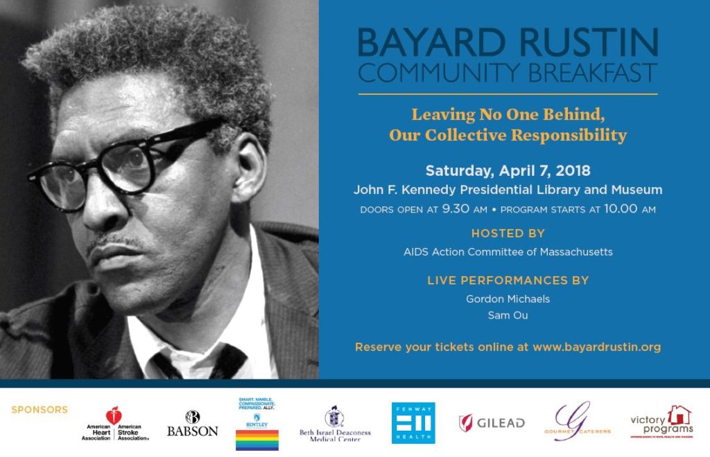 9961243cb3 29th Annual Bayard Rustin Breakfast to Honor LGBT People of Color Working  to End HIV AIDS