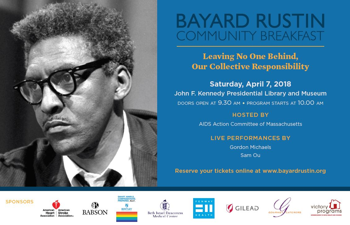 29th Annual Bayard Rustin Breakfast to Honor LGBT People of Color Working to End HIV/AIDS