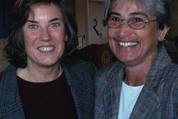 Judy Bradford (right) and Nan Dumas (left). The 3rd Annual Audre Lorde Cancer Awareness Brunch Program. 2001.