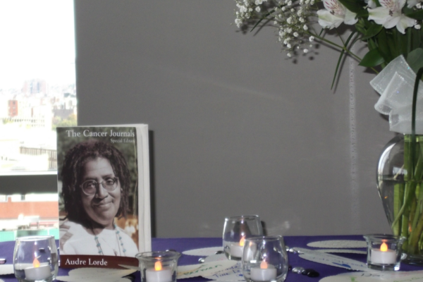 Remembrance Ceremony Altar. The 15th Annual Audre Lorde Cancer Awareness Brunch Program. 2013.